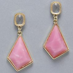 """Pink Dangling Earrings Pink Dangling Earrings  1"""" W, 2 1/4"""" L NYC Chic Accessories Jewelry Earrings"""