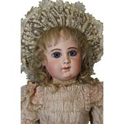 23 inch Antique 9 over EJ Bebe Jumeau with Blue Paperweights French Bisque doll