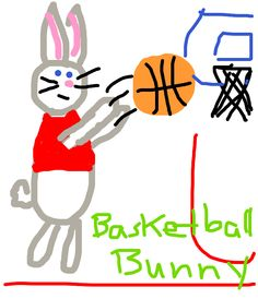 A basketball bunny from @DamianMcCabe on Twitter.