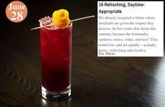 Summer Drinks 16 Refreshing, Daytime-Appropriate: www.teelieturner.com #recipes