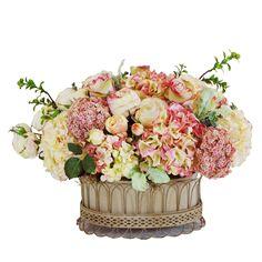 hortensien rosen und pfingstrosen in einem korb arrangieren i like these flowers pinterest. Black Bedroom Furniture Sets. Home Design Ideas