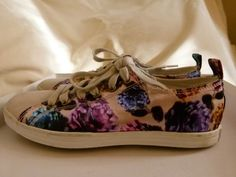 Paul Smith ladies white suede trainers Musa floral pattern