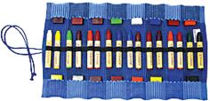 16 Stick/Block Crayon Roll (Blue)