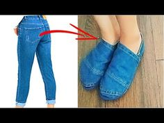 RECICLAR JEANS - ZAPATOS DE JEANS VIEJOS - DIY: REUSE/ RECYCLE OLD JEANS - TRANSFORM YOUR CLOTHES - YouTube