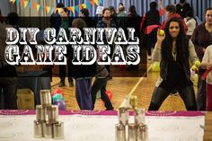 Carnival themed community party! DIY Carnival Activities