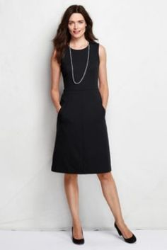 Women's Sleeveless Ponte; Sheath Dress with Pockets from Lands' End (I love this in tomato)