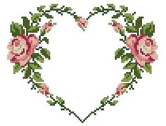 Thrilling Designing Your Own Cross Stitch Embroidery Patterns Ideas. Exhilarating Designing Your Own Cross Stitch Embroidery Patterns Ideas. Cross Stitch Heart, Cross Stitch Borders, Modern Cross Stitch, Cross Stitch Flowers, Cross Stitch Designs, Cross Stitching, Cross Stitch Embroidery, Embroidery Patterns, Vintage Rosen