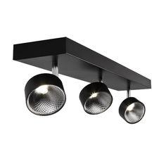 Beautiful Things BAZZ 3-Light Black Matte Integrated LED Spots Flushmount-C14177BK - The Home Depot