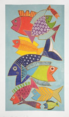 "Laurel Burch needlepoint design ""Pescado"""