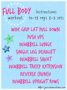 Full Body Workout from @Jessie Gipe