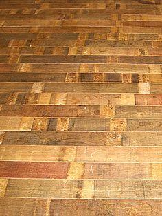 Fontenay Wine Barrel Flooring - Stave | Wine Racks America