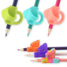 Assorted Colours Ultra Pinch and Crossover Pencil Grip 3-Step Training Kit