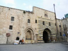 Khan al-Wazir caravanserai, Aleppo, Syria Aleppo City, Old Building, Silk Road, Syria, Explore, Travel, Aladdin, Ancestry, Genealogy