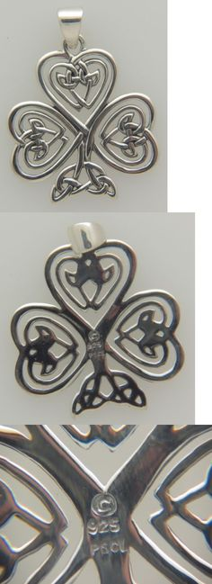 Necklaces and Pendants 98485: Peter Stone Sterling Silver Large Celtic Knotwork Shamrock Pendant -> BUY IT NOW ONLY: $54.24 on eBay!