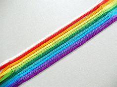 Rainbow Friendship Bracelet Set Nine Color Bracelets and One
