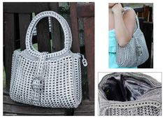 Recycled soda can pop tabs purse!  http://bit.ly/epinner