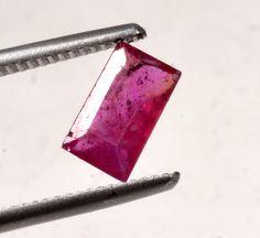 MGL Certified 1.89CT Rect Mixed Natural Ruby Gemstone Gem No-3618 MADAGASCAR