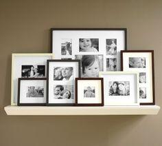 Photo gallery ledge wall frames mats