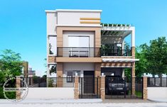 Carlo is a 4 bedroom 2 story house floor plan that can be built in a 180 square meter lot. With at least 12 meters width, this house design can conveniently stand with all sides free from firewalls… Two Story House Design, 2 Storey House Design, Bungalow House Design, Small House Design, Family House Plans, House Floor Plans, Philippines House Design, Two Storey House Plans, Architecture Magazines