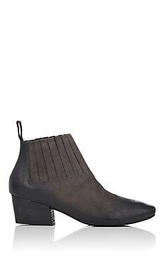 Gore-Detail Suede Ankle Boots