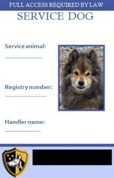 Service Dog Papers Template Service Dog Certificate Templates - Service dog certificate template