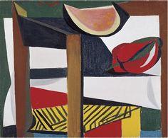 198. Sedia, cocomero e peperone - 1947