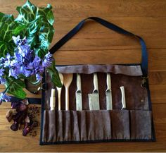 Bees Waxed Chef's Tool Roll www.alannahbrid.com