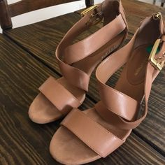 Adrienne Vittadini Sandals Wore these three times. Love them. Great condition! Very clean. See other listing for more photos. Size 8 but I wear an 8.5 and they fit perfect. Adorable zip detail. Adrienne Vittadini Shoes Sandals