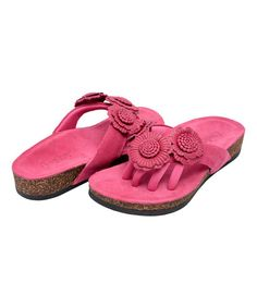 Look what I found on #zulily! Fuchsia Blossom Leather Sandal #zulilyfinds