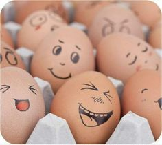 Funny eggs; something creative to consider instead of egg dying!
