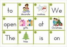Christmas Sentence Scramble with Cut and Paste Worksheets. Includes cards for use in a pocket chart center and differentiated follow-up cut and paste worksheets.