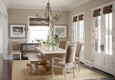 French Country Dining Room Table Design Ideas, Pictures, Remodel and Decor Dining Room Design, Dining Room Table, Dining Area, Wood Table, Table Bench, Dining Sets, Beige Dining Room, Dining Bench, Dining Chairs