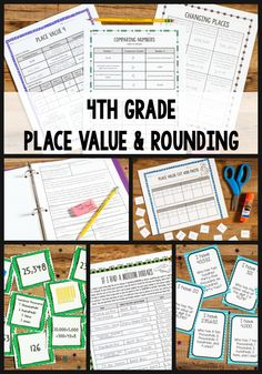 FREE game Excellent place value and rounding unit Includes skill building worksheets 14 activities games and Fourth Grade Math, 4th Grade Classroom, Classroom Ideas, Future Classroom, Classroom Activities, Rounding Activities, Math Games, Math Place Value, Place Values