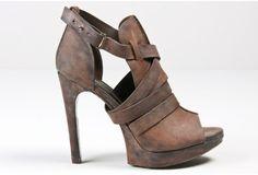 Vera Wang Lavender: Ebano Cara Strapped Heel. $424