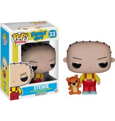 Family Guy - Stewie Griffin Funko Pop! Vinyl Figure The super evil baby, Stewie, is always plotting ways to kill his Mother and is super intelligent.