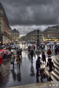 Place de l'Opera, Paris IX - walked through here a lot! It can get rather smoggy at rush hour, but still be beautiful!