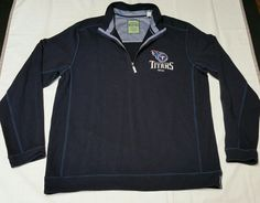 fab106023 Tommy Bahama Tennessee Titans Navy Blue Half-Zip Pullover golf Sweater Men  XL  TommyBahama  TennesseeTitans