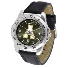 """Appalachian State Mountaineers NCAA AnoChrome """"Sport"""" Mens Watch (Leather Band) SunTime. $53.10. Rotation Bezel/Timer. Calendar Date Function. Scratch Resistant Face. Save 27%!"""