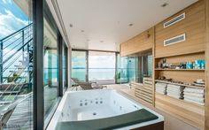 Luxury jacuzzi interior modern with view Interior Modern, Luxury Villa, Jacuzzi, Photo And Video, Studio, Instagram, Design, Luxury Condo, Studios