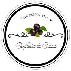 Etiquettes pour confitures de cassis maison par Lily Ciboulette www.lilyciboulette.com