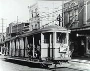 Tram en route to Drummoyne, near the Hotel Rozelle, Victoria Road. 1952