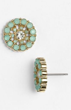 Vintage Circle Stud Earrings