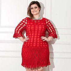 Plus Size – Vestido Vermelho – Linha Anne