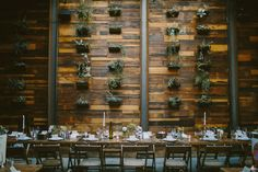 Brooklyn Winery's hanging succulent wall is a favorite of wedding guests!