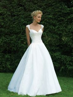 Princess Champagne Taffeta Floor Length Dress of Queen Anne Neckline and Zipper Closure