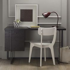 Flat-Bar Storage Desk #WestElm