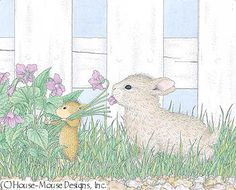 """Amanda & Friend from House-Mouse Designs® featured on the The Daily Squeek® for April 14th, 2013. Click on the image to see it on a bunch of really """"Mice"""" products."""