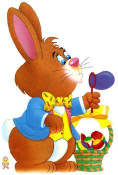 Huevos Pascua Material manualidades - Escuela Rabbit with bubbles