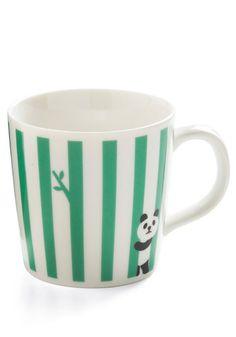 Play It on the Line Mug in Panda, #ModCloth