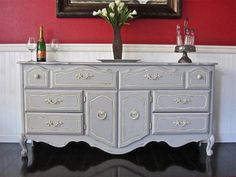 SOLD Shabby chic buffet/dresser SOLD by VintageRehabs on Etsy, $450.00